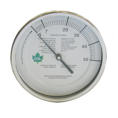 "Picture of THERMOMETER 5"" X 9"" (0-50°F) 1/4"" MIPT"