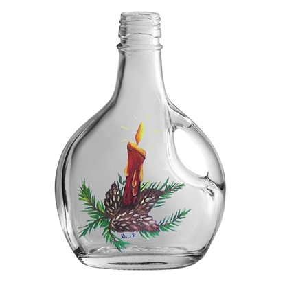 Picture of GLASS BOTTLE BASQ.250ML XMAS
