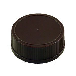 Picture of PLASTIC CAP 28-410 BROWN / MAPLE LEAF