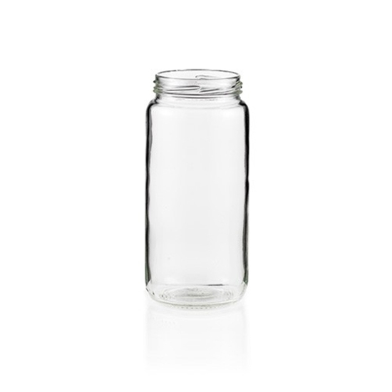 Picture of GLASS JAR 500ML LONG ROUND 63MMTW