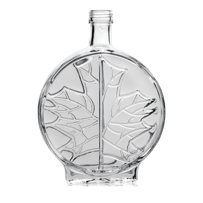 Picture of GLASS BOTTLE MODERN LEAF 100ML