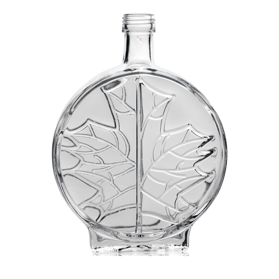 Picture of GLASS BOTTLE MODERN LEAF 250ML