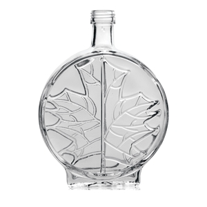 Picture of GLASS BOTTLE MODERN LEAF 500ML