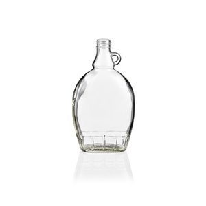 Picture of GLASS BOTTLE FLAT 250ML(8.5 OZ)