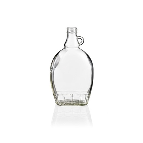 Picture of GLASS BOTTLE FLAT 8 OZ (CS/12)