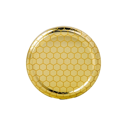 Picture of METAL LID 82MM GOLD HONEYCOMB