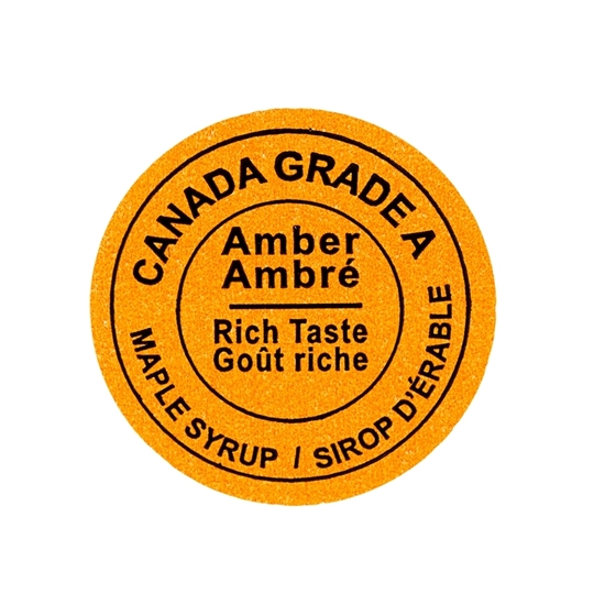 Picture of GRADING LABEL CANADA AMBER 2015 (500)