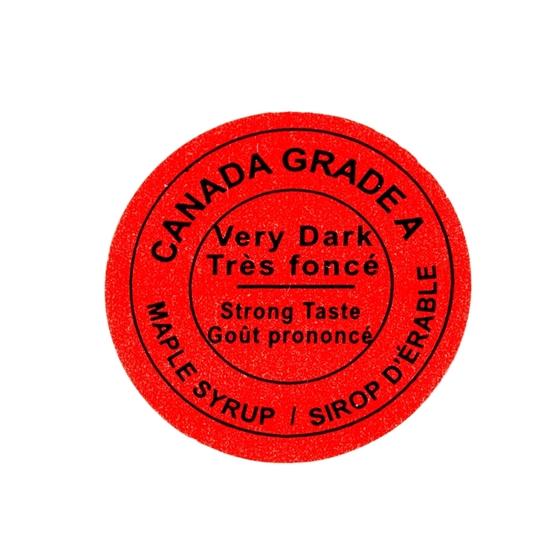 Image sur ÉTIQUETTE CANADA TRÈS FONCÉ 2015 (500)