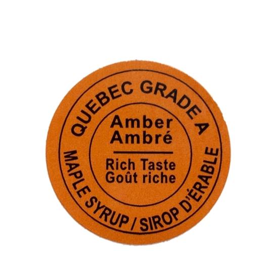 Picture of GRADING LABEL QUEBEC AMBER 2015 STANDARDS (RL/500)