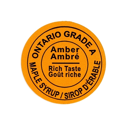 Picture of GRADING LABEL ONTARIO AMBER 2015 STANDARDS (500)