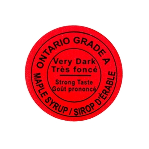 Picture of GRADING LABEL ONTARIO VERY DARK 2015 STANDARD (500)