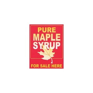 "Picture of SIGN PLASTIC 24""X 36""PURE MAPL"