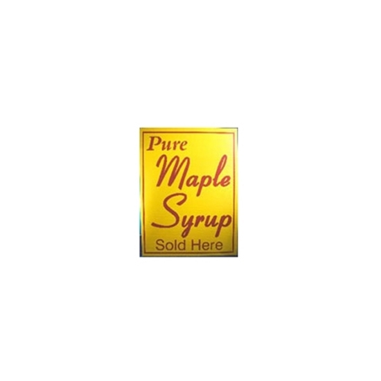 """Picture of 18X24 YELLOW SIGN """"PUR MAPLE SYRUP SOLD HERE"""""""