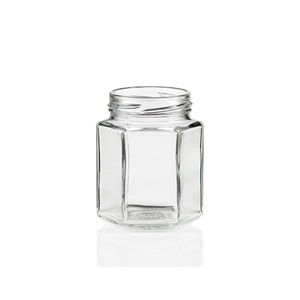 Picture of GLASS JAR 270ML HEXAGONAL