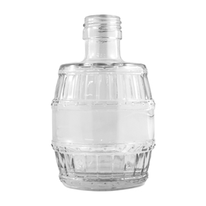 Picture of GLASS BOTTLE BARREL 200ML (CS/12)