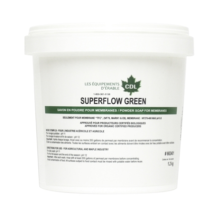 "Image de SAVON MEMBRANE BIO ""SUPERFLOW GREEN"" 1KG"