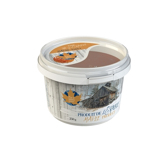 """Picture of 250G """"LOCK"""" CDL MAPLE TAFFY  WITH COVER"""