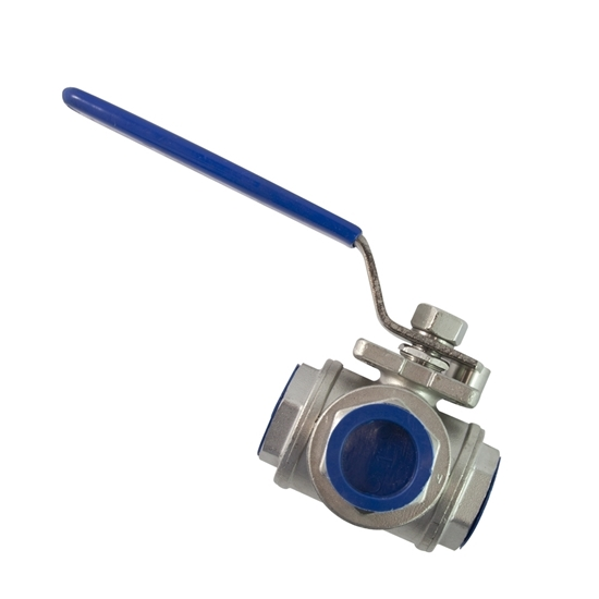 """Picture of 3-WAY STAINL. VALVE 3/4"""" (OSMOSIS)"""
