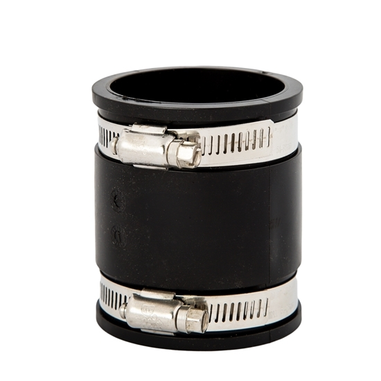 """Picture of RUBBER COUPLING 1-1/4"""" + CLAMPS"""