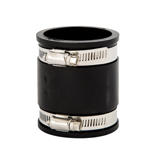 """Picture of RUBBER COUPLING 1-1/2"""" + CLAMPS"""