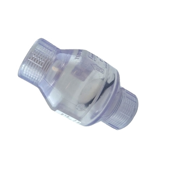 """Picture of PVC CHECK VALVE 1"""" CLEAR FIPT"""