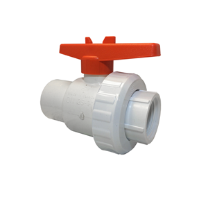 "Picture of PVC SINGLE UNION VALVE 1-1/2"" FIPT-FIPT"