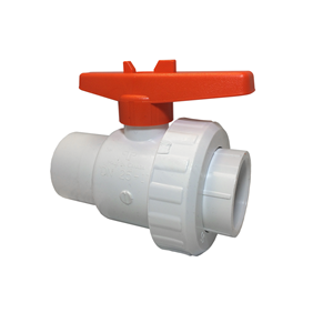 "Picture of PVC SINGLE UNION VALVE 2"" SLIP"