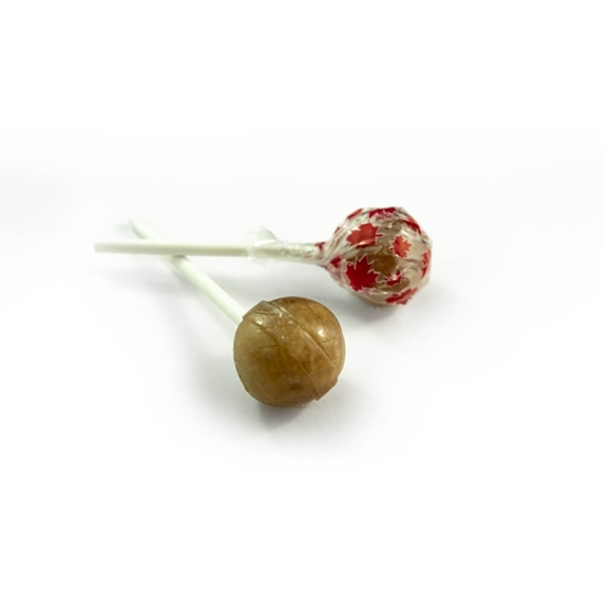 Picture of 1 LB ROUND MAPLE LOLLYPOPS