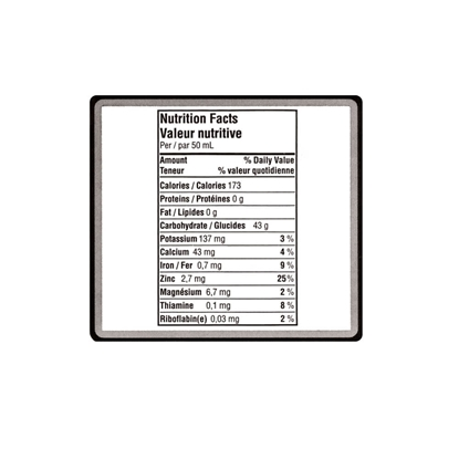 Picture of LABEL NUTRITION FACTS 200/RL