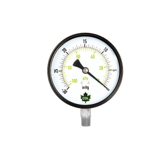 """Picture of Vacuum gauges 30 HG 2-1/2"""" INOX"""