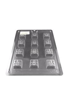 Picture of CHOCOLATE MOLD SQUARE FLEUR DE LYS (12)