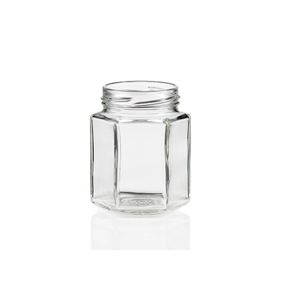 Picture of HEXAGON GLASS JARS